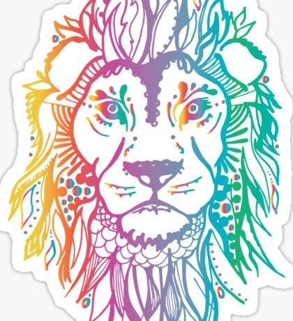 fierce_lion_rainbow Sticker