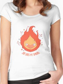 She Likes My Spark! Women's Fitted Scoop T-Shirt