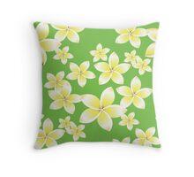 Seamless pattern with frangipani flowers Throw Pillow