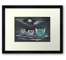 Giant Lilies Upon Misty Waters Framed Print