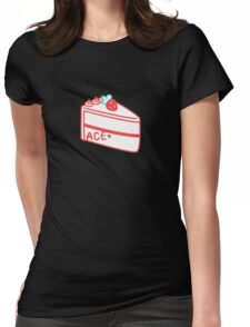 Strawberry Asexual Cake Womens Fitted T-Shirt