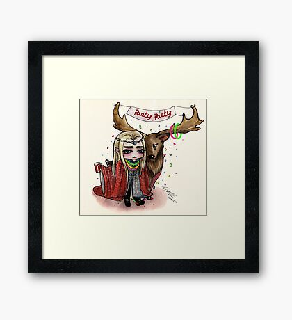 Party King Framed Print