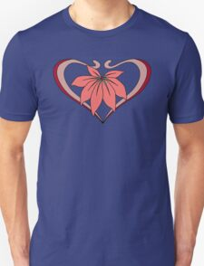 Love, heart with flower, pink red Unisex T-Shirt