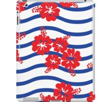 Seamless pattern asian Hibiscus flowers iPad Case/Skin