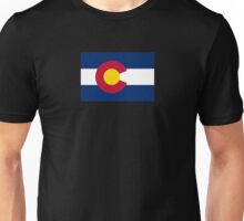 Colorado USA State Flag Bedspread T-Shirt Sticker Unisex T-Shirt