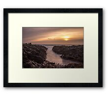 Pathway to the sea by Jean Lelliott Framed Print