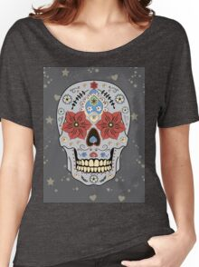 Day of The Dead colorful sugar Skull  Women's Relaxed Fit T-Shirt