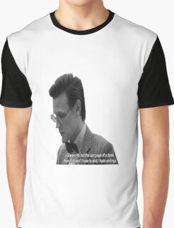 """Doctor Who - """"I always rip out the last page of a book, then it doesn't have to end. I hate endings."""" Graphic T-Shirt"""