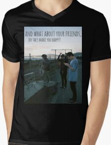 Tigers Jaw lyrics #7 Mens V-Neck T-Shirt