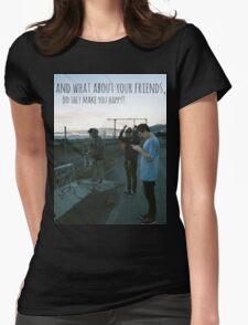Tigers Jaw lyrics #7 Womens Fitted T-Shirt