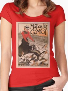 Vintage poster - Motocycles Comiot Women's Fitted Scoop T-Shirt