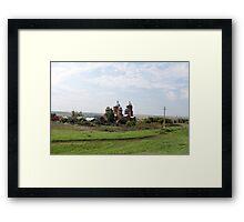rural road Framed Print