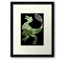 Point Culture : Dinosaures Framed Print