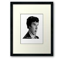 "Sherlock - ""I don't have friends."" Framed Print"