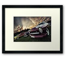 Flakes and Flames Framed Print