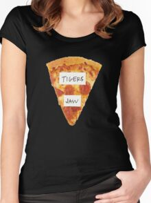 Tigers Jaw Pizza Logo Women's Fitted Scoop T-Shirt