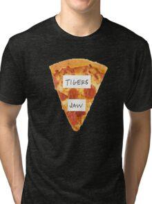 Tigers Jaw Pizza Logo Tri-blend T-Shirt