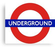 London underground sign Canvas Print