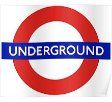 London underground sign Poster