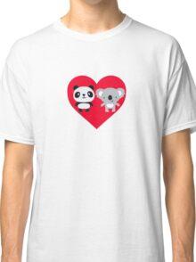 Panda and Koala Love Classic T-Shirt
