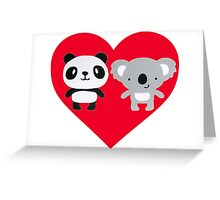 Panda and Koala Love Greeting Card