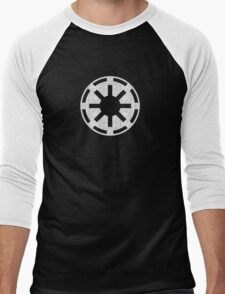 Galactic Republic (white, distressed) Men's Baseball ¾ T-Shirt