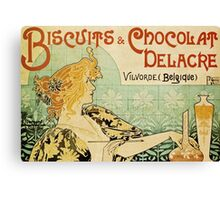 Vintage poster - Biscuits and Chocolat Delacre Canvas Print