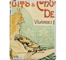 Vintage poster - Biscuits and Chocolat Delacre iPad Case/Skin