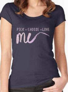 Pick •  Choose •  Love ME (v2 - pink) Women's Fitted Scoop T-Shirt