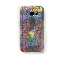 Multi colored crackle Samsung Galaxy Case/Skin