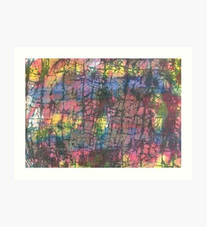 Multi colored crackle Art Print
