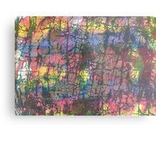 Multi colored crackle Metal Print