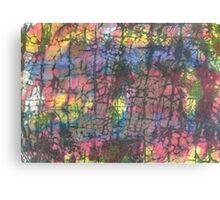 Multi colored crackle Canvas Print