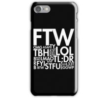 Internet Slang Collections iPhone Case/Skin