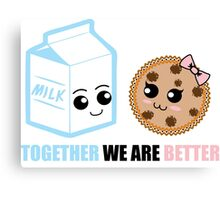 Milk and Cookie Love Canvas Print
