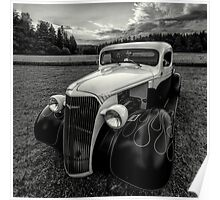 black white rod Poster