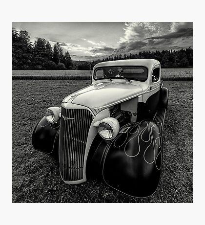 black white rod Photographic Print