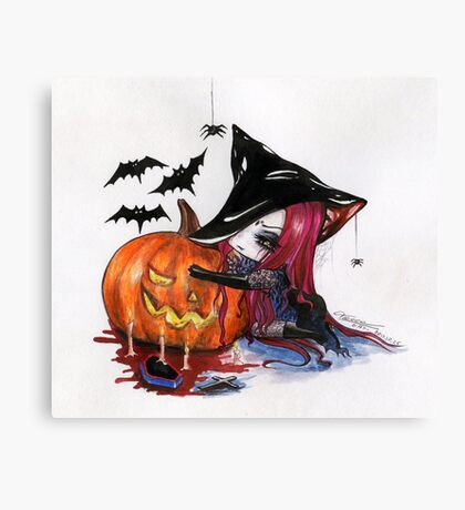 Halloween: Wicked Witch Canvas Print