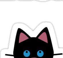 Black Kitten Love Sticker