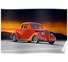 1936 Ford 'Five Window' Coupe Poster