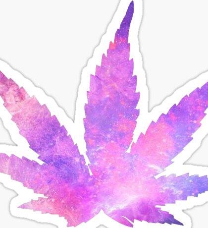 Weed Galaxy Sticker