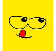Yellow Sly face Photographic Print