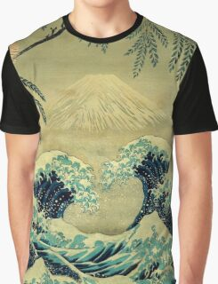 The Great Blue Embrace at Yama Graphic T-Shirt