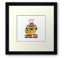 Recruiting for Koopa Troop Framed Print
