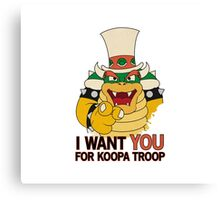 Recruiting for Koopa Troop Canvas Print