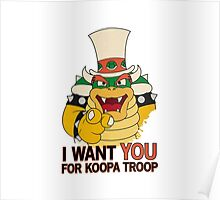 Recruiting for Koopa Troop Poster