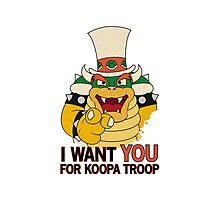 Recruiting for Koopa Troop Photographic Print