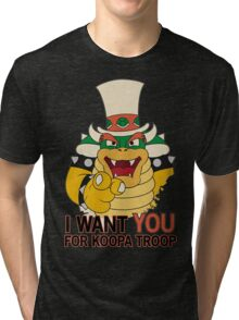 Recruiting for Koopa Troop Tri-blend T-Shirt
