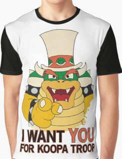 Recruiting for Koopa Troop Graphic T-Shirt