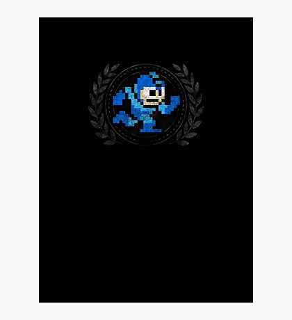 Mega Man - Sprite Badge 2 Photographic Print